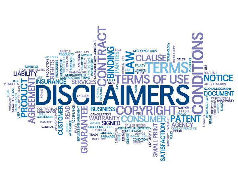 Legal Disclaimer Clayton Amp Mcculloh